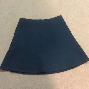 J. Crew Fit and Flare Emerald Green Skirt